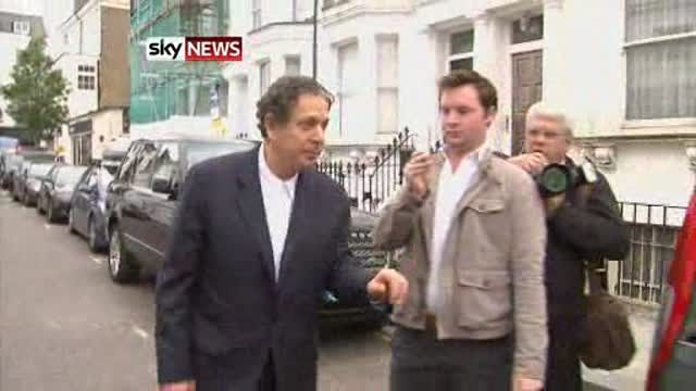 News video: Charles Saatchi refused to speak to reporters